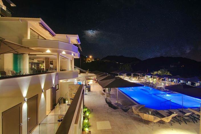 """Exterior Design """"Prima Vista Hotel"""" Rooms and pool view"""