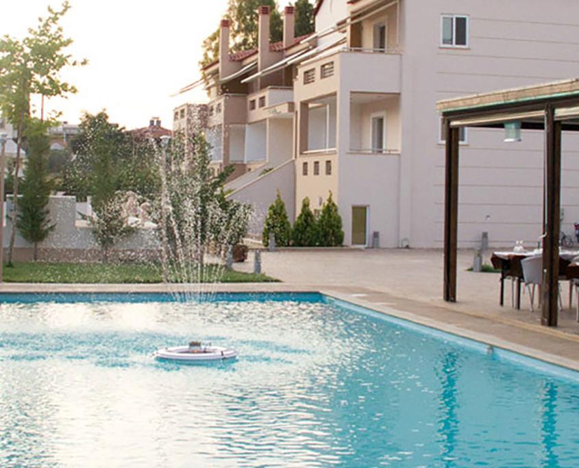 "Exterior Design ""Zeis Edw"" pool at the morning"