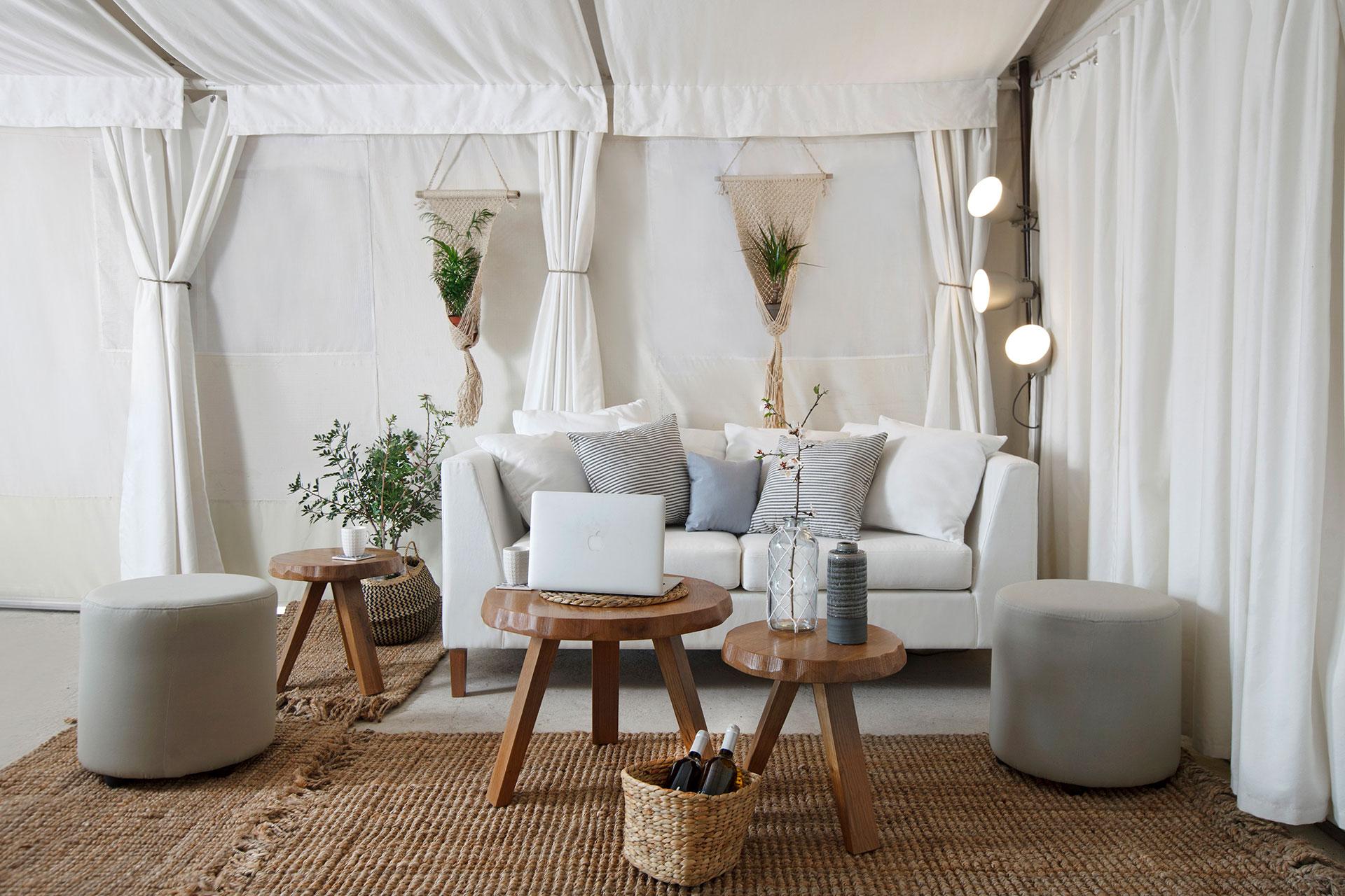 "Exterior Interior & Architecture Design ""Sails on Kos"" living-room"