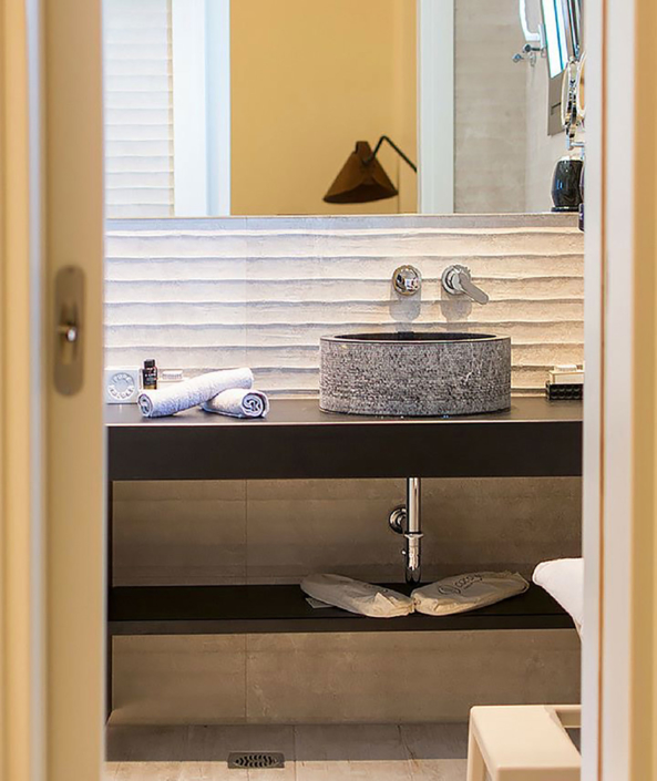 "Interior Design ""Prima Vista Hotel"" Bathroom view"