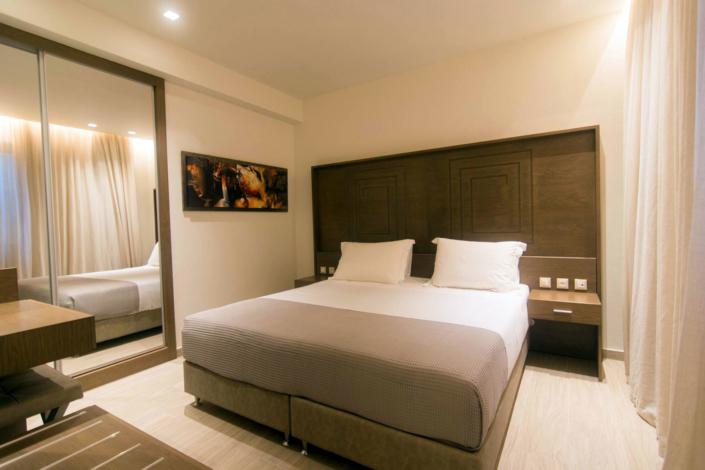 "Interior Design ""Prima Vista Hotel"" Bedroom king size bed"