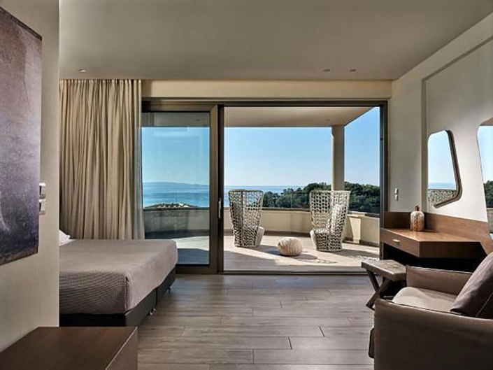 """Interior Design """"Prima Vista Hotel"""" room with sea view"""