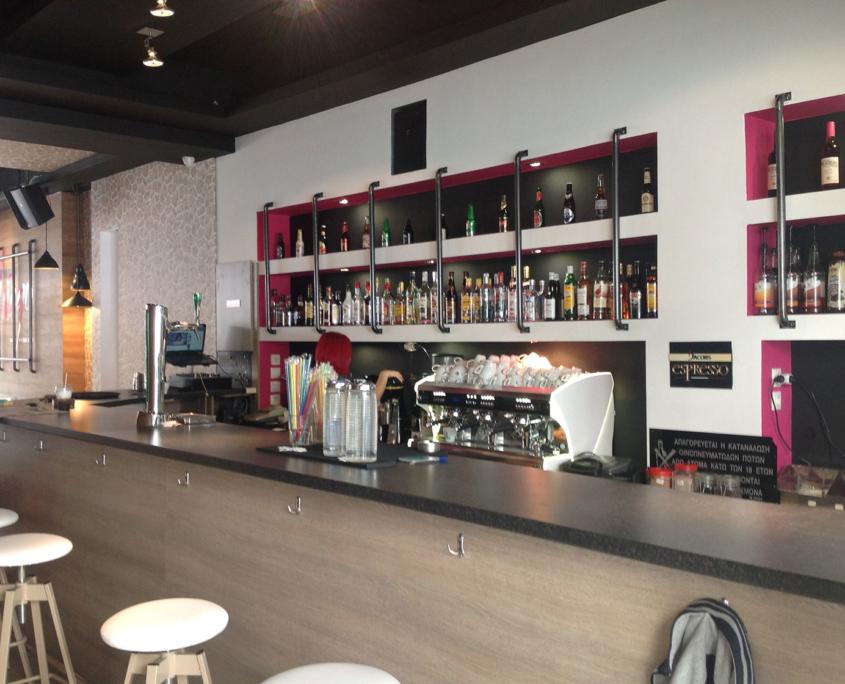 Interior design fuego bar view