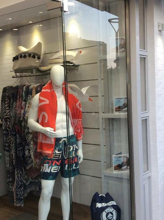 "Interior Design ""Galdera"" Store Mens Swimmwear corner"