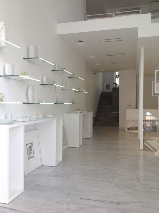 """Interior Design """"Art Gallery"""" store left wall view"""