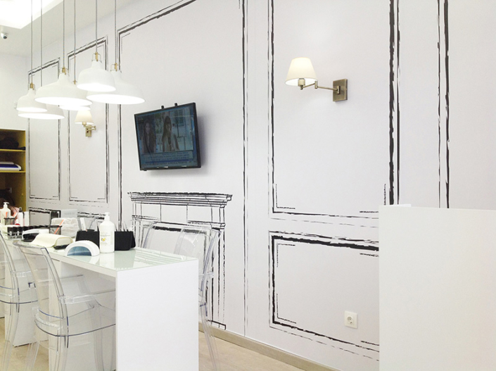 """Interior Design """"Gbeaute nails"""" inside wall"""