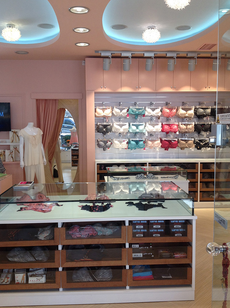 "Interior Design ""Votre Lingerie"" Interior view"